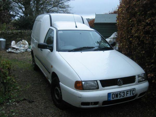 VW Caddy Van 1.9 TDI, 53plate 91,000 miles MOT til dec 2013, needs work done