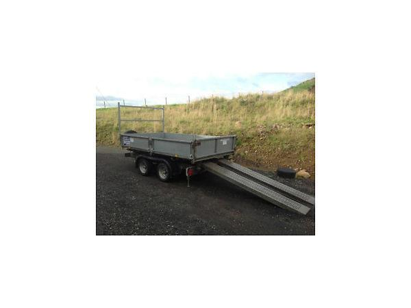 Used Ifor Williams TT105 tipper trailer with Electric Pump 10' x 5'6