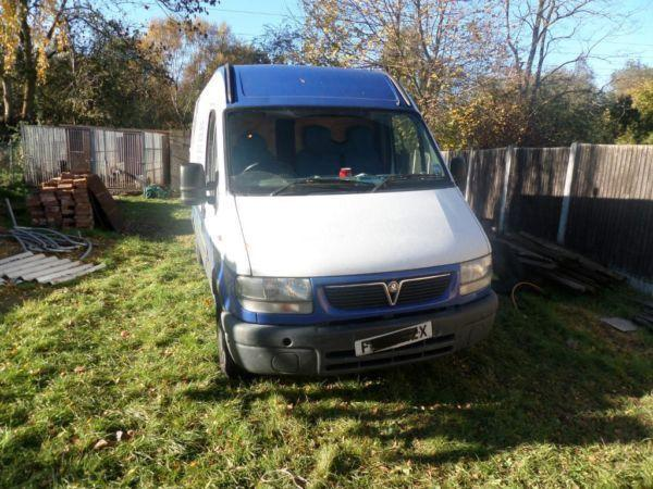 Vauxhall Movano MWB semi high top 2.2 diesel