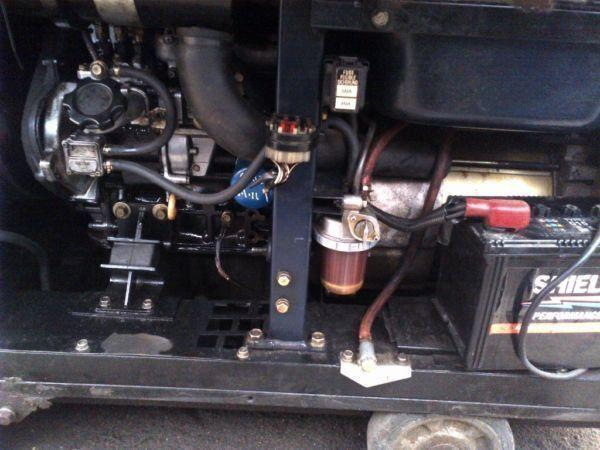 11 Kva Generator / Welder, 3 cylinder Honda diesel engine, super silent on wheels.
