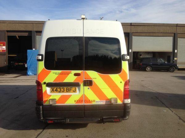 Renault master 2.8 turbo diesel LWB 6month mot very good runner ex ambulance