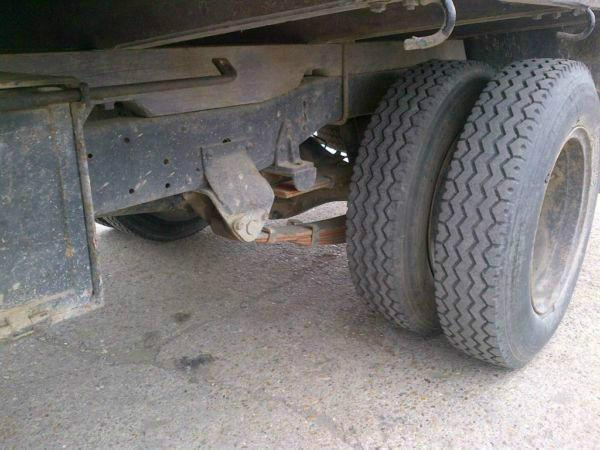 Left hand drive Toyota Dyna BU15 6 tyres drop sides truck. On springs suspension.Year: 1981