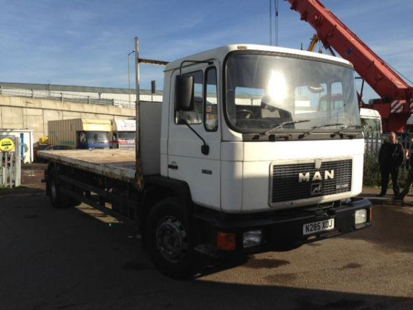 1996 MAN 17.192 Flat Bed Truck - Long MOT - Excellent Condition - Export Buyers Welcome