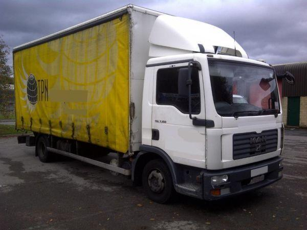 man tgl 7.150 20ft curtainsider 2007/07 lez compliant