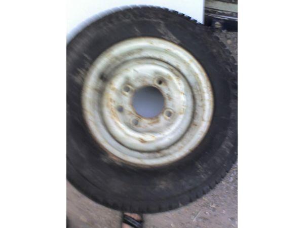 New unused 165/80R 13 Tyre, Fitted to Steel. Plant. Trailer. Caravan. etc.