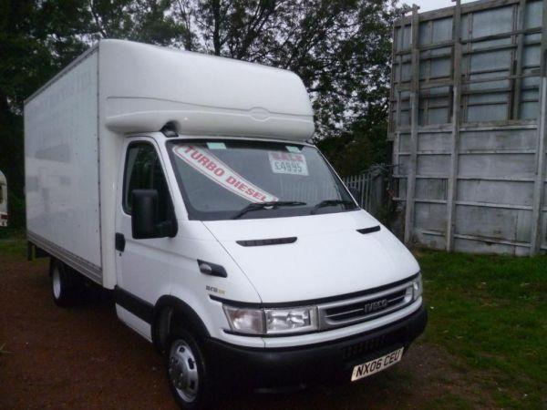 IVECO C12 LWB TWIN WHEEL LUTON WITH DEL SLIMJIM ELECTRIC TAIL LIFT 14 FT BOX PLUS NOSE CONE MINT
