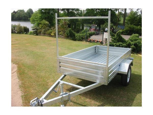 NEW 7x4 GALVANISED TRAILER, LADDER RACK, JOCKEY WHEEL. VIN PLATE, FULL EEC SPEC only £620