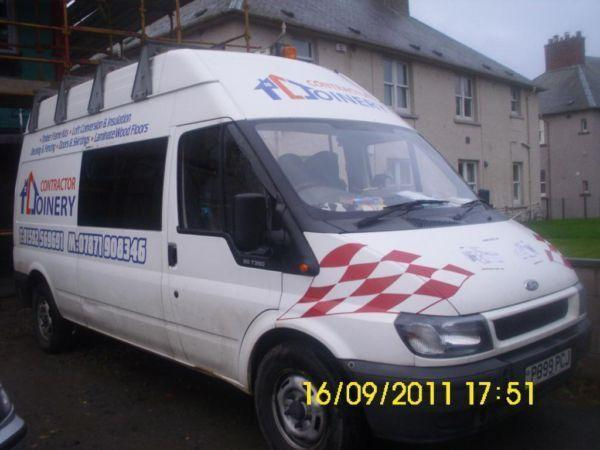 ford transit lwb high roof mess crew race van