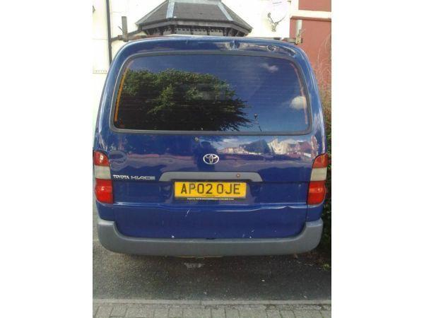 Hiace 2002 D4D Diesel, LWB, 104,000miles, timing belt change at 102k by Toyota, 2 previous owners