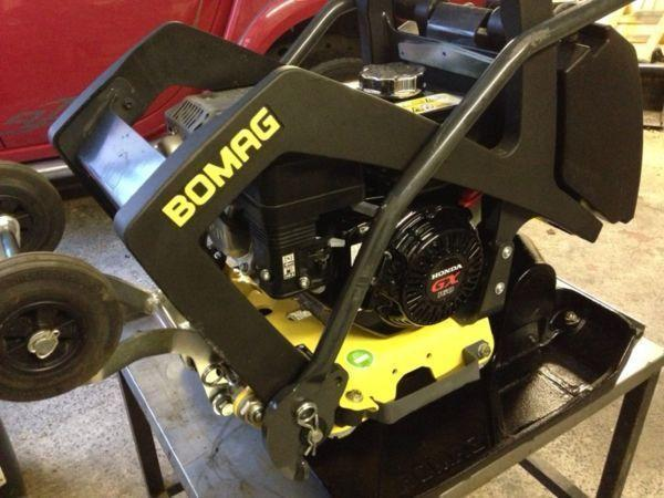 New/unused Bomag bp20/50 whacker plate