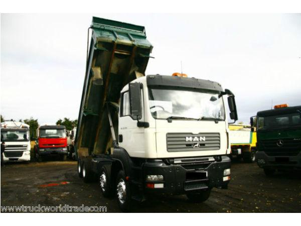 2007 MAN TGA 35 400 8X4 STEEL BODY TIPPER TRUCK THOMPSONS LHD TIPPING EDBRO