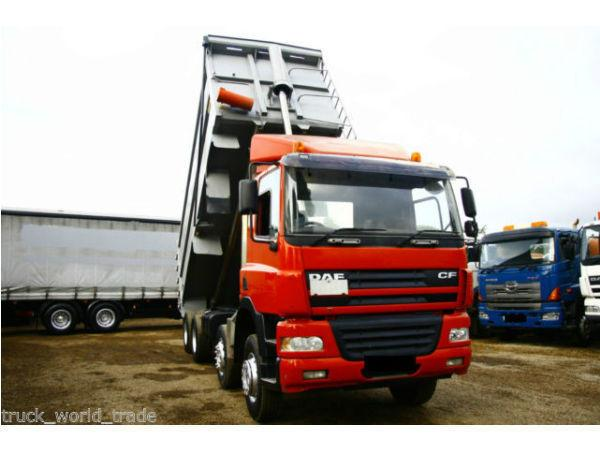 2005 DAF 85.340 8X4 TIPPE TRUCK BULK THOMPSONS MAN 6X4 TRACTOR GRAB CRANE ACTROS