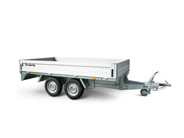 BRENDERUP GALVANISED CAR TRAILER - 10' X 6' DROPSIDE