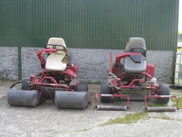 2 Toro Greenmaster 3000 Mowers Swap Exchange £1500