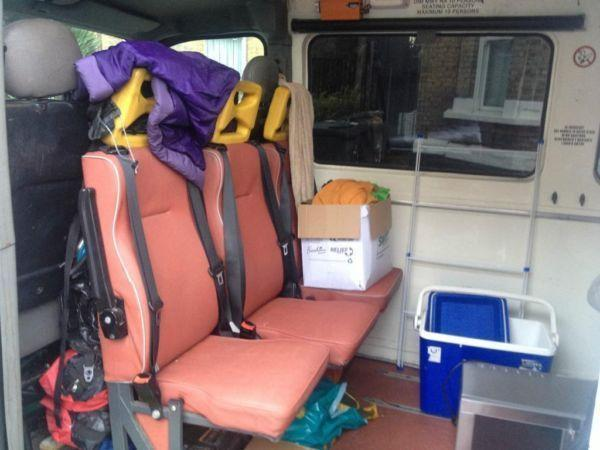 2002 RENAULT MASTER, converted ambulance with built in bunk beds and lots of starage space