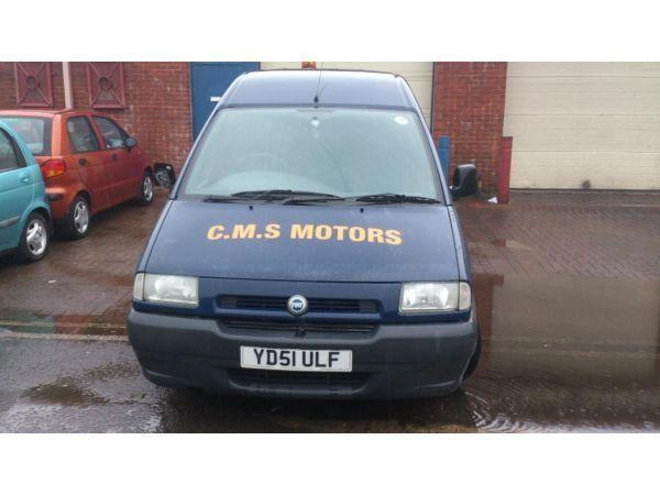FIAT SCUDO VAN,1.9 DIESEL,51 PLATE,NEW M.O.T,6 MONTHS TAX,RECOVERY TRUCK SWOP???