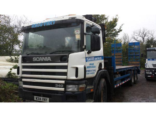 hiab scania plant lorry