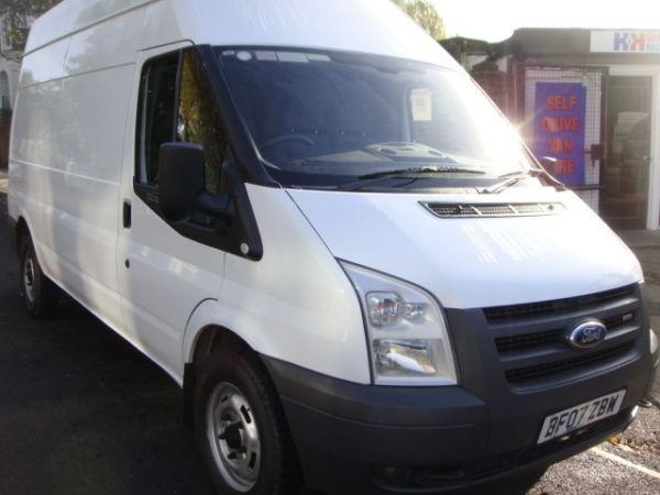 Ford Transit 350 LWB HI ROOF 2007 CLEAN RELIABLE VAN, FULLY VALETED, FULLY SERVICED TAX & MOT