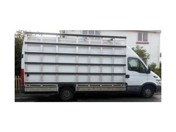 Large external glazier side aluminium rack for sale in Swansea, glaziers frail for LWB Iveco Van