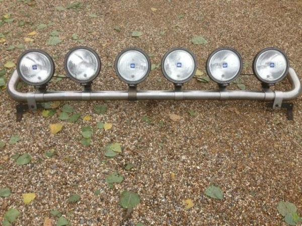 LIGHT BAR FOR TRUCK ETC, SCANIA, VOLVO , DAF, IVECO, MAN, WITH SIX SPOT LIGHTS