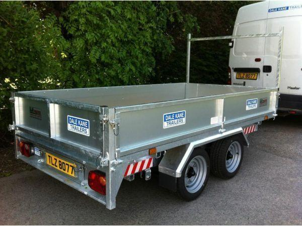 dale kane 10 x 5,6 flatbed dropside 3 tonne trailer ( not nugent or ifor williams )