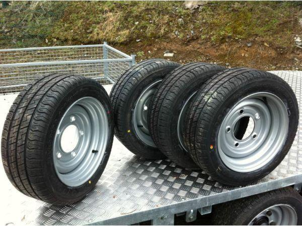 free delivery on 4 ifor williams nugent dale kane hudson indespension 195 50 13 tyre and rim