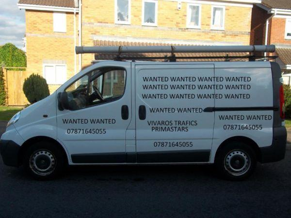 Vauxhall Vivaro Renault Trafic vans wanted anything considered non runners spares repairs damaged