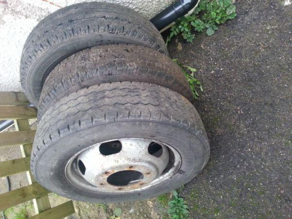 transit pick up wheels with good tyres ×3