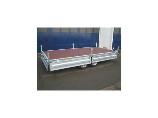 BRENDERUP GALVANISED CAR TRAILER - 13'8' X 6'8' DROPSIDE