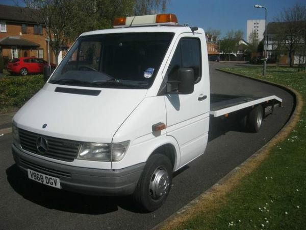 MERCEDES-BENZ SPRINTER 2900 cc SPRINTER 412D RECOVERY TRUCK TWIN WHEELS + LWB