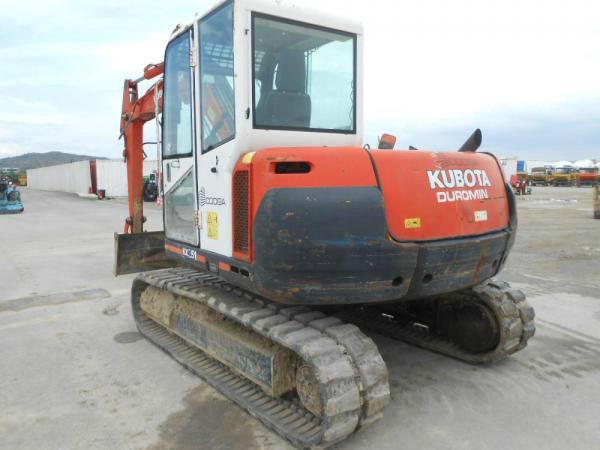 Kubota kx251 2006 rubber tracks,blade ,piped,qh and bucket