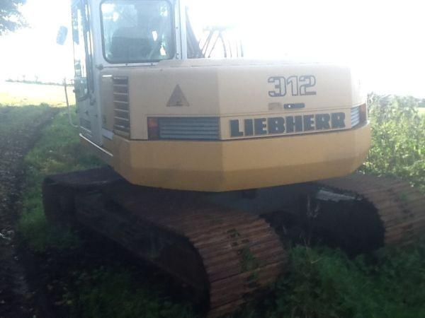 Liebherr 312 13 ton track digger excavator low hours