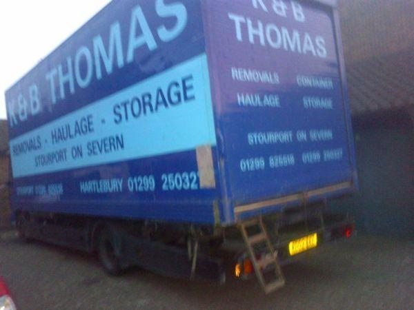 extra large removals box iveco hgv truck 7500