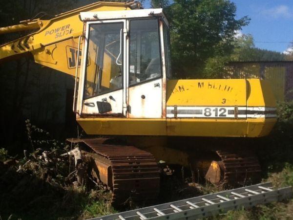 Jcb 812 powerslide track digger excavator low hours