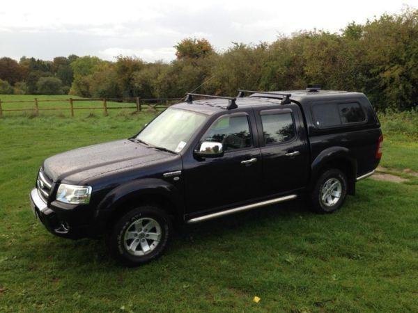 FORD RANGER THUNDER 2007 TDCi LOW MILEAGE 76000 BLACK LEATHER NO VAT