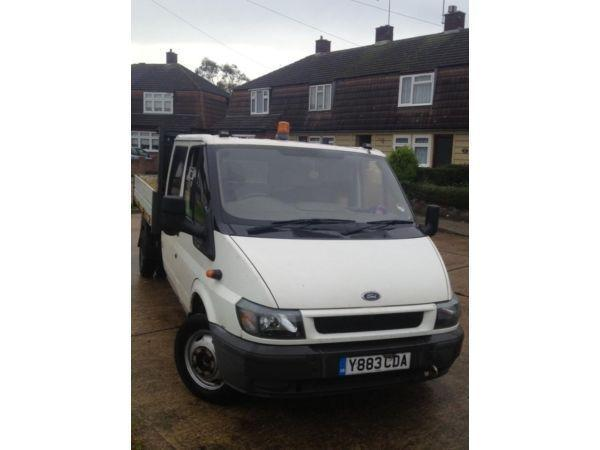Tipper ford transit 2001 twin cab low mileage